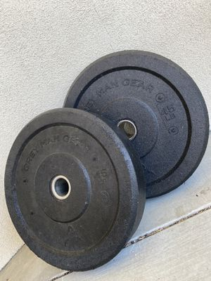 45lb GMG Bumper Plate-Pair for Sale in Fontana, CA