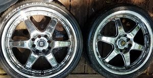 Set of four Chrome rims for Sale in Powder Springs, GA