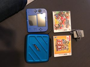 Nintendo 2DS bundle + 2 games for Sale in Farmington Hills, MI