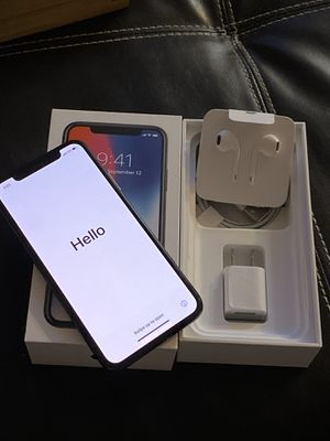 Unlocked iPhone X 64GB Space Gray for Sale in Hutto, TX
