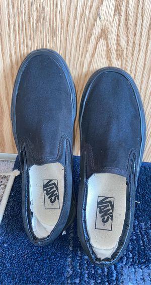 Black slide on vans! for Sale in Lynnwood, WA