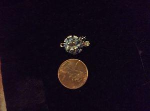 14k gold turquoise 1/4k diamond turtle charm for Sale in Denver, CO