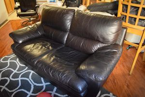 Real leather sofa for Sale in San Diego, CA