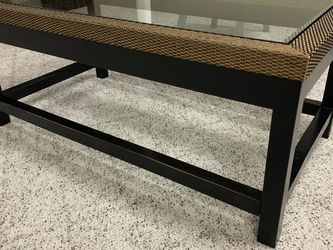 Coffee table black bamboo edging for Sale in Norfolk,  MA