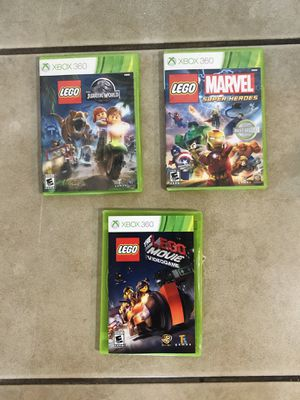 Xbox 360 LEGO games lot ( Jurassic world, super heroes , movie ) for Sale in North Las Vegas, NV