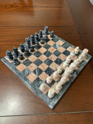 Natural stone chess board game for Sale in San Antonio, TX