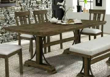 🔥Feel the Happiness🔥Quincy Grayish Brown Rectangular Dining Set by Crown Mark for Sale in Philadelphia,  PA