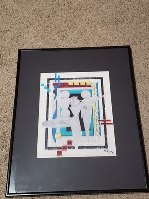 Signed and Framed Cool Jazz Painting by Marvin 'Murf' Murphy for Sale in Boca Raton, FL