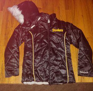 Girls size 10/12 steelers reebok winter jacket for Sale in Plum, PA