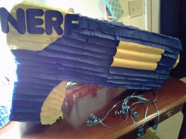 Homemade Nerf gun piñata