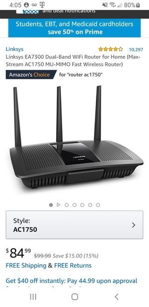 Linksys router EA7300 45.00 for Sale in Henderson, NV