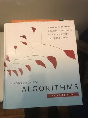 Algorithms by Cormen book with hard cover original print for Sale in Burke, VA