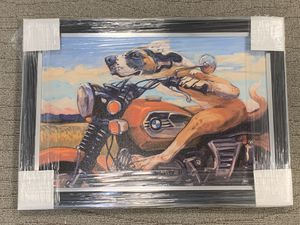 BMW Motorcycle art with a cat and dog 21x25 for Sale in Orlando, FL