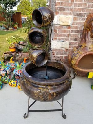 Donut WATER FOUNTAIN (Clay Pots) for Sale in Wylie, TX
