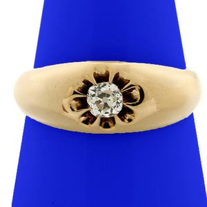 U2722 MENS DAMOND WEDDING RING 0.25CT BAND 14K Y GOLD 3.5GRAMS for Sale in San Diego, CA