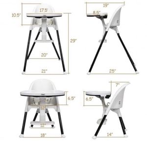 3 in 1 Convertible Highchair with Detachable Double Trays for Sale in Pomona, CA