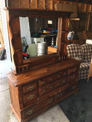 Vintage dresser WITH night stand for Sale in Northwood, OH