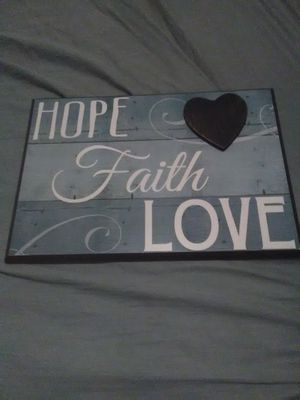 Hope, faith, love decor for Sale in Norfolk, VA