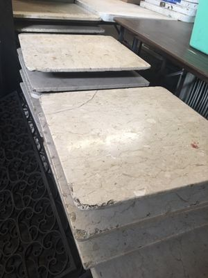 Solid Carrara White Marble Tabletops - 26 inch square tabletops (22 available) for Sale in Seattle, WA