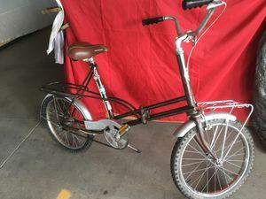 Vintage Bike Sears 1960'S fold up bicycle folding bike 3 speed for Sale in St. Petersburg, FL