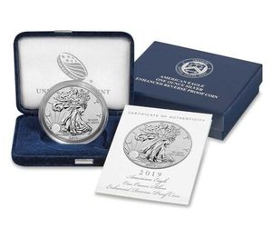 American Eagle 2019 One Ounce Silver Enhanced Reverse Proof Coin for Sale in Fairfax, VA