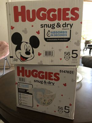 Huggies size 5 diapers for Sale in Perris, CA