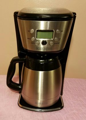 BLACK & DECKER 12-Cup Thermal Programmable Coffeemaker with FREE MUG for Sale in Miami, FL