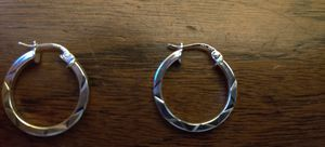 Brand New 925 Sterling Silver Hoop Earrings for Sale in Pleasant Hill, IA