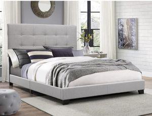 Gray QUEEN Platform Bed (NEW ) for Sale in San Bernardino, CA
