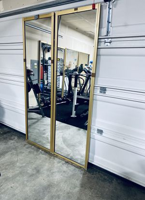 mirror doors x 2 (78inch L x 2ft W each) for Sale in Renton, WA