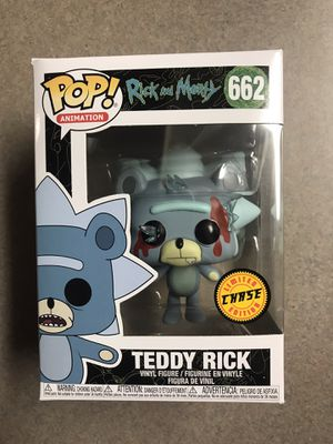 Teddy Rick CHASE Funko Pop Morty 662 with protector for Sale in Addison, TX