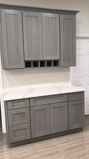 Kitchen cabinets grey all wood for Sale in Tampa, FL