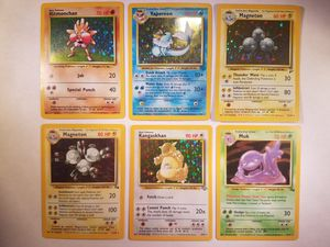 *SHIP ONLY* Lot of 6 Played (PL) Pokemon Holofoil Trading Cards TCG WOTC Base Set 2 Jungle Fossil Holographic Hologram Holo Foil Shiny Halo for Sale in Phoenix, AZ