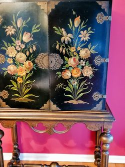 Vintage Chinese Chinoiser Cabinet for Sale in Princeton,  NJ