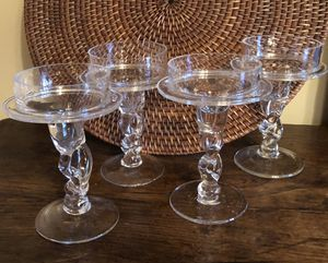 Set of 4 Glass Candleholders for Sale in Fairview Park, OH