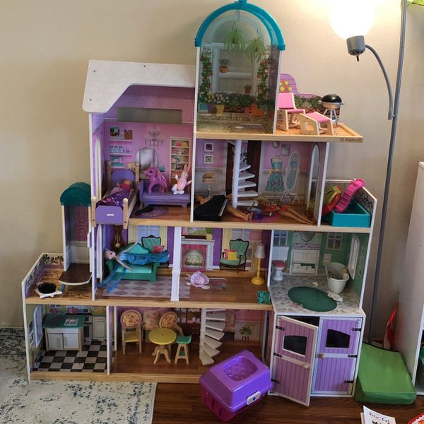 Large Dollhouse And Accessories, Like New