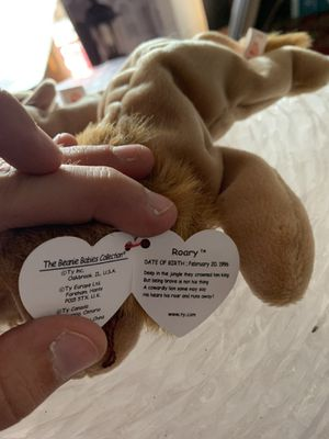 Ty beanie baby roary RETIRED for Sale in FOWBELSBURG, MD
