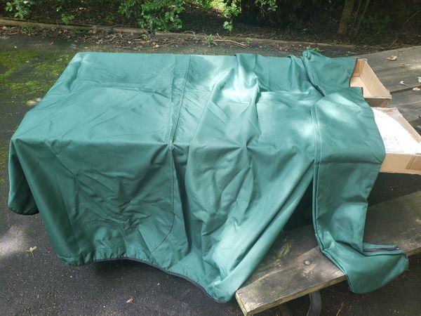Green 3 bow bimini top