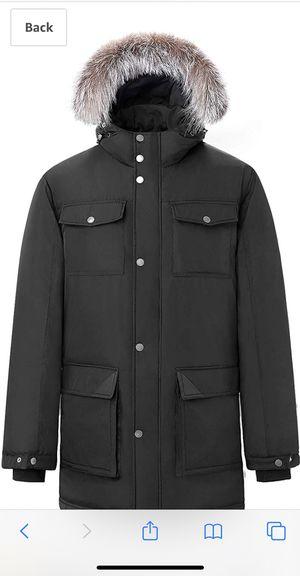 Men's Down Filled Parka Jacket Hooded Coat Waterproof Winter Outwear for Sale in Lincolnwood, IL