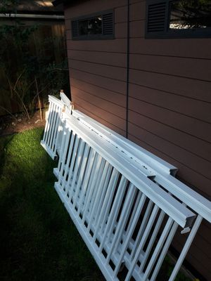 Picket pvc plastic fence sections for Sale in Woodinville, WA