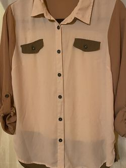 Nude Button Up Blouse for Sale in Long Beach,  CA