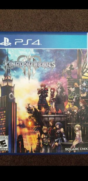 Kingdom hearts 3 ps4 for Sale in Lakewood, CA