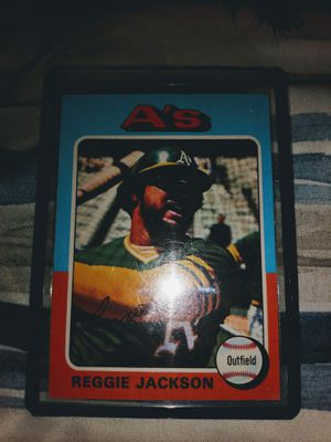 75 Topps Reggie Jackson!! for Sale in Post Falls, ID