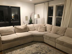 Macy's sectional couch, cream color for Sale in Bellevue, WA