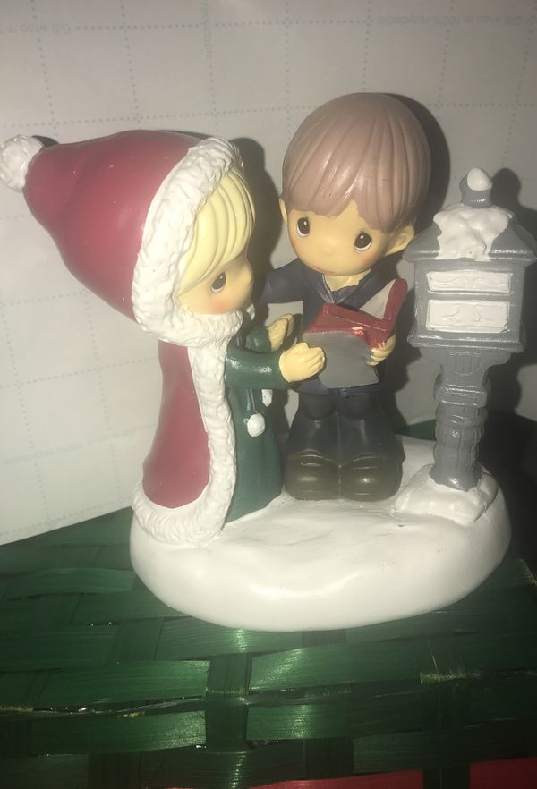 Precious moments figurine scene