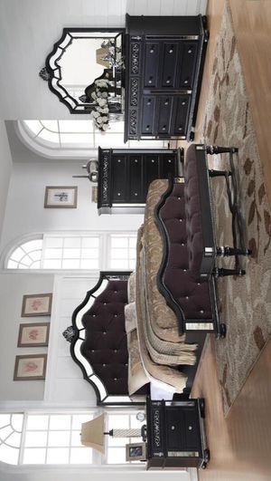 [CLEARANCE] Kelly Black Mirrored Panel Bedroom Set | KE160 for Sale in Austin, TX