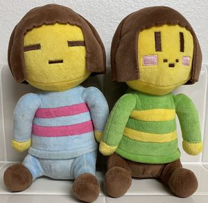 TWO Undertale Plush Doll Frisk and Chara Plushies Stuffed Toy Dolls Gifts LOT for Sale in San Ramon, CA