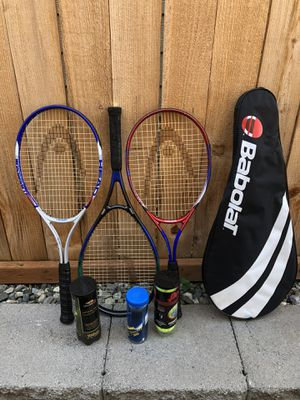 Tennis rackets bag and balls for Sale in Lynnwood, WA