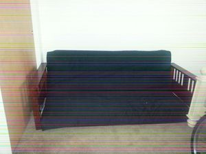 Futon black with a new cover for Sale in Decatur, IN