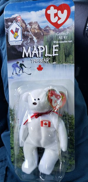 Maple The Bear -1996 McDonald's Ty Beanie Baby for Sale in San Jose, CA